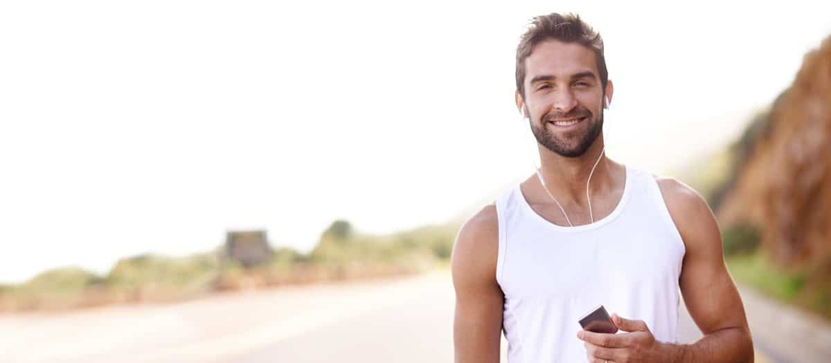 young man with attractive beard from laser hair removal