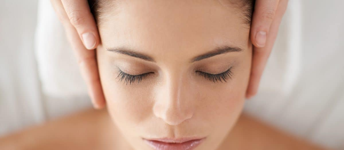 facial infusion treatment on young woman in McLean VA