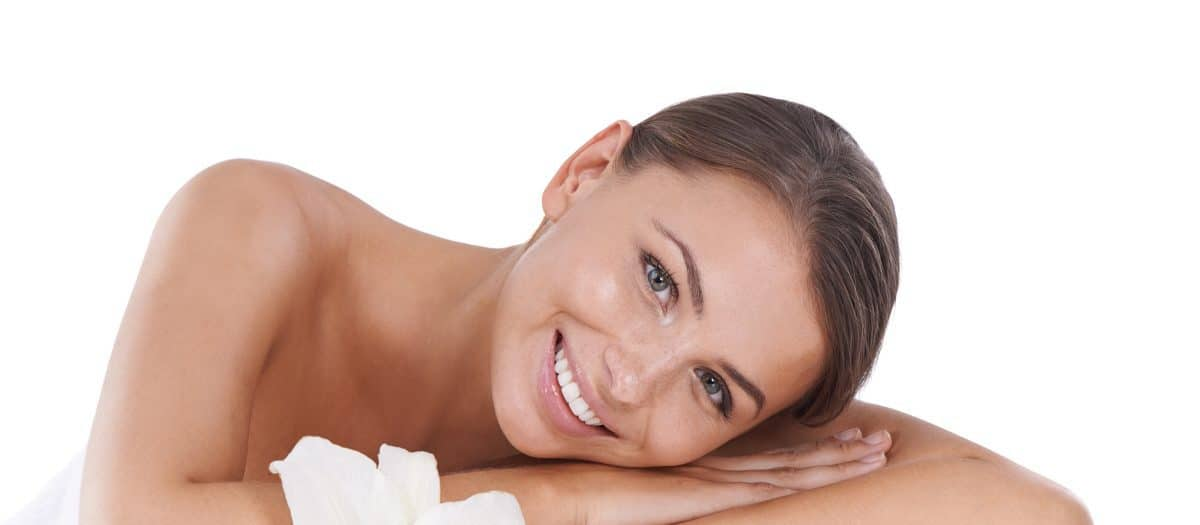 woman with youthful skin from laser facial rejuvenation
