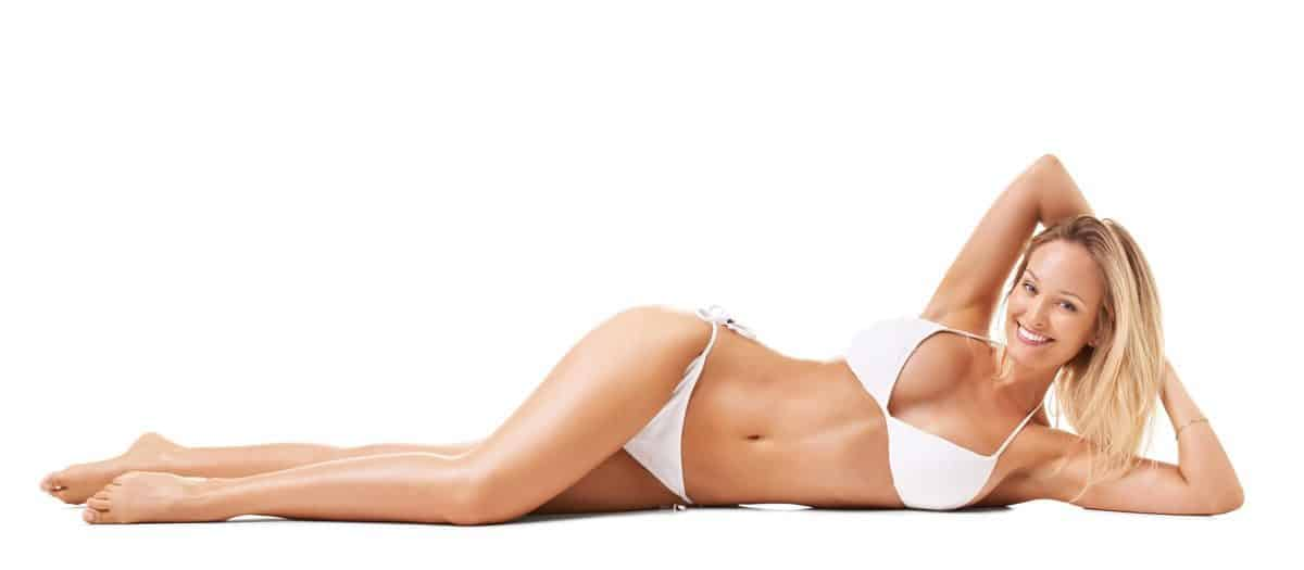 hair free woman in bikini from laser hair removal treatment